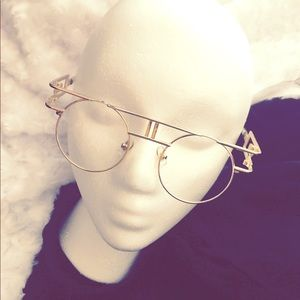 Gold clear lenses sunglasses
